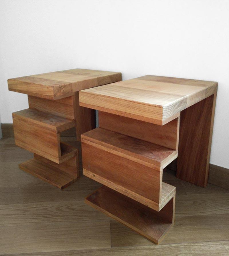 弓 _mesa de noche reciclada / recycled nightstand