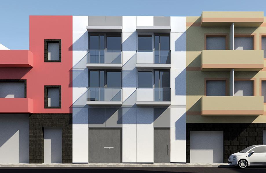 Edificio de viviendas en La Isleta